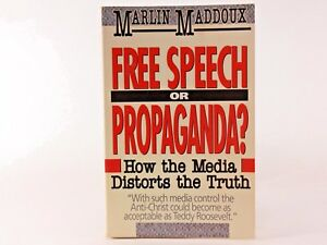 VG-Free-Speech-or-Propaganda-by-Marlin-Maddoux-1990-Paperback