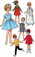 Penny Brite Miss Cindy Doll Clothes PATTERN 6207 Party Dress Hat Coat Nightgown