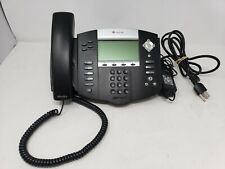 Polycom Soundpoint Ip 550 Desk Phone Sip Digital Poe Working With Power Supply