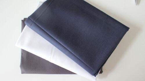 weiß anthrazit Baumwollstoff  3 x 50 x 140//150 uni dunkelblau