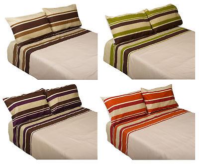 Sinnvoll Gestreift Bettbezug & Zwei Kissenbezug Set Pflegeleicht Baumwollmischung Verpackung Der Nominierten Marke Möbel & Wohnen
