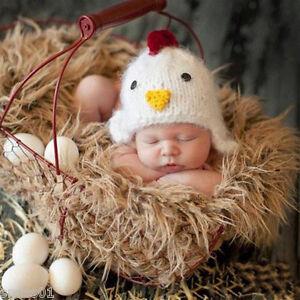 Newborn Baby Girls Boys Cap Knit Chick Costume Hats Photos Photography Prop