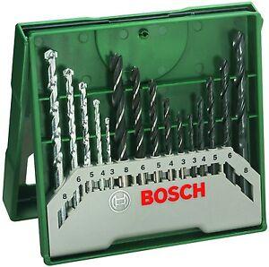 Bosch-X-Line-Ensemble-de-15-Forets-pour-Bois-Pierre-et-Metal-Nouvelle