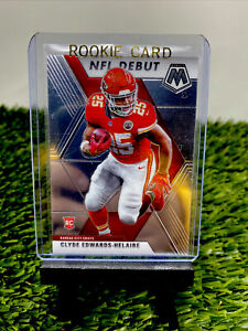 CLYDE EDWARDS-HELAIRE 2020 PANINI MOSAIC NFL DEBUT ROOKIE RC KC CHIEFS🔥👀look🔥