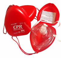 10x CPR Face Masks - Resuscitation Face Shield - First Aid Kit & Training