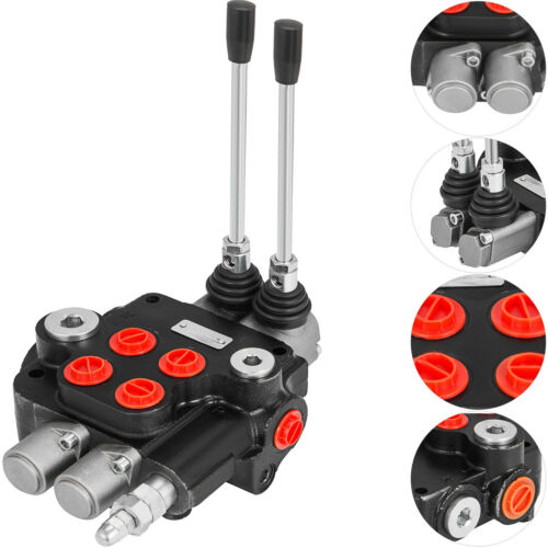 2 Spool Hydraulic Control Valve 21GPM Double Acting Monoblock Tractors loaders