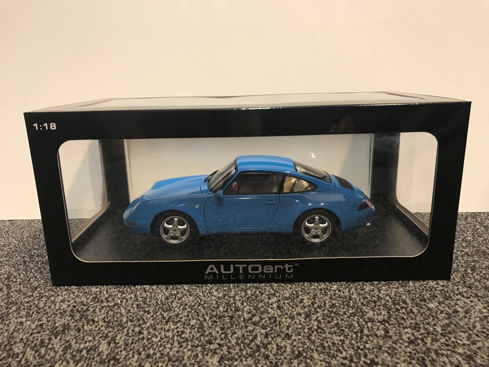Porsche 911 (993) CARRERA bleu METALLIC 1 18 AUTOart