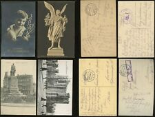 GERMANY WW1 MILITARY FELDPOST...4 ITEMS...PICTURE POSTCARDS...VARIOUS MARKINGS
