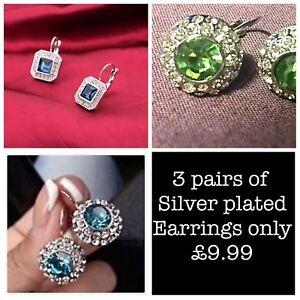 Breast-cancer-charity-fundraiser-3-x-crystal-earrings