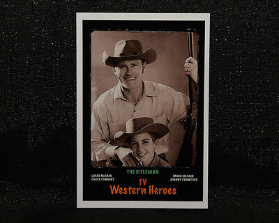 """4/""""X 6/"""" Magnet  /""""THE RIFLEMAN/"""" JOHNNY CRAWFORD CHUCK CONNORS TV show"""
