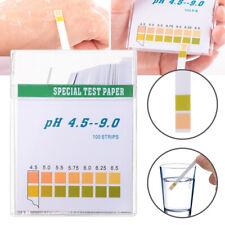 100 Ph Indicator Test Strips 45 9 Paper Litmus Tester Laboratory Urine Amp Saliva