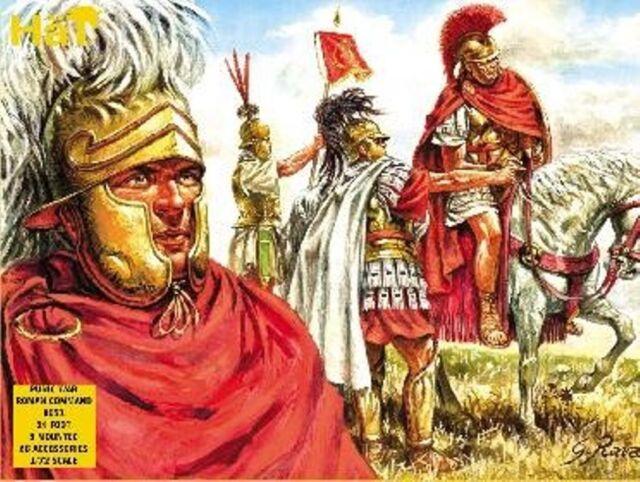 Hat  1/72nd Scale Plastic Ancients Punic War Roman Command Set 8051 Boxed!