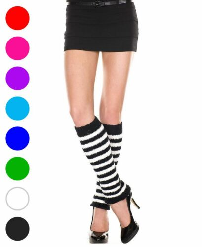 Fuzzy Stripes Leg Warmers Music Legs 5529