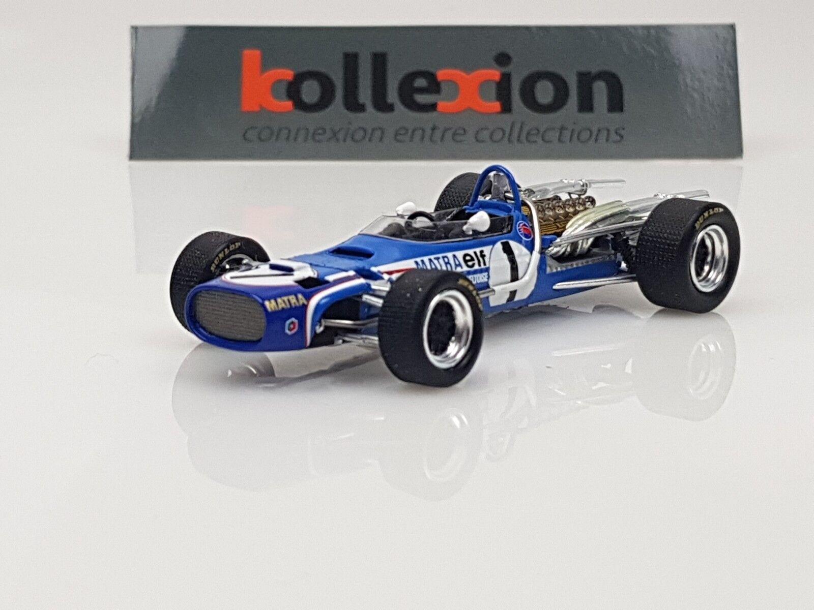SPARK S4356 MATRA MS11 n°1 Monaco GP F1 1968 JP Beltoise 1.43