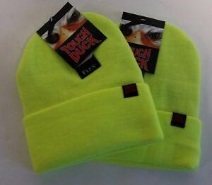 a0579b98e4fa9b Tough Duck FX 40 Toque Winter Hat Fluorescent Yellow i35816 ** Lot ...
