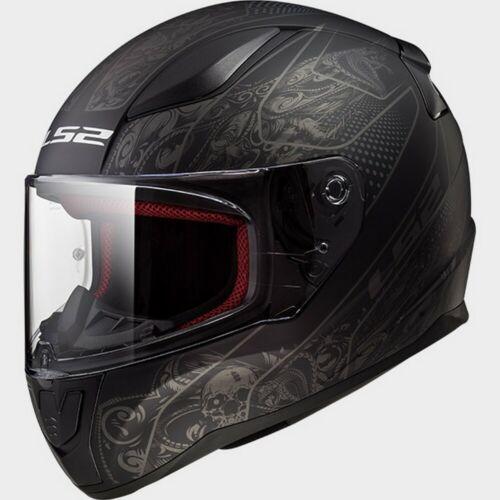 LS2 Rapid FF353 Crypt Motorcycle Helmet Matte Black//Tonal