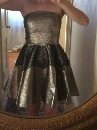 NEW 8 Anthropologie Foil Brocade Mini Dress From SB by Sachin and Babi Stunning!