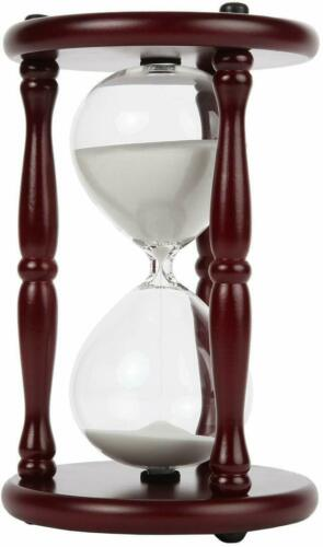 Wood Hourglass Antique Sand Timer with Cherry Finished Beautiful Decor Item