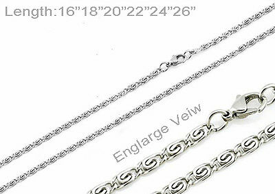 """One Day Ship 16""""-26"""" Womens Stainless Steel Flower Necklaces Flower Chains"""