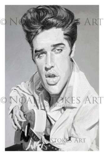 Elvis Presley  Art Print by Noah Stokes