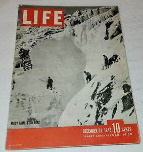December 31, 1945 LIFE Magazine WWII War advertising ads 1940s FREE SHIP Dec 12