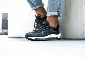 Detalles de Para mujer Nike Air Max 97 UK Size 6 NegroBlanco 921733 011 ver título original