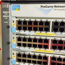 J8698A HP ProCurve 5412zl Switch w/ 12x J8702A PoE Modules +4x J8712A PSU