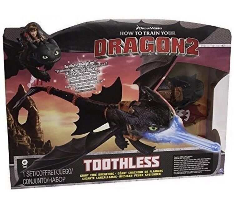 DREAMWORKS HOW TO TRAIN YOUR DRAGON 2 - GIANT FIRE BREATHING TOOTHLESS PLAYSET.
