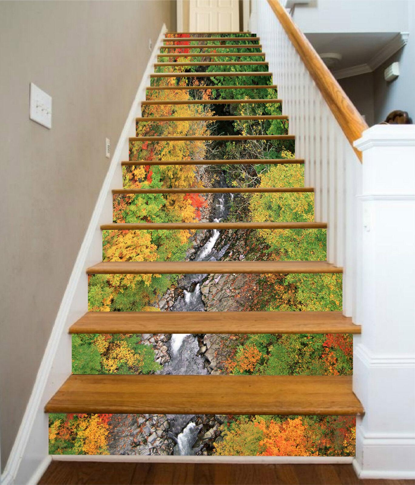 3D Fallen Wald 347 Stair Risers Dekoration Fototapete Vinyl Aufkleber Tapete DE