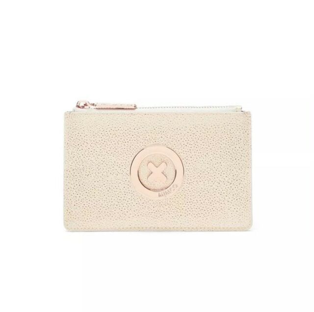 BNWT MIMCO SUPERNATURAL SMALL LEATHER POUCH ALABASTER RRP$79.95🍾POST ANY 5 FREE