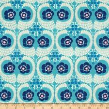 1YD Amy Butler VIOLETTE FRENCH TWIST Westminster Leaf Floral Fabric PWAB141SKY