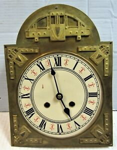 Antique German Free Swinger Clock - DIAL & MOVEMENT ONLY