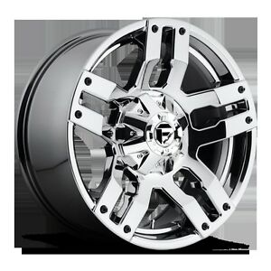 18-034-Fuel-Offroad-Pump-Chrome-Wheels-Rims-285-65-18-BFG-Tires-Tundra-Sequoia-Ram