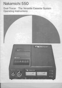 nakamichi 550 cassette deck owners instruction manual ebay rh ebay com Vintage Nakamichi Stereos Nakamichi Dual Cassette