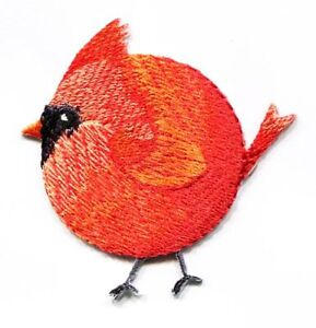 Chubby-Cardinal-Red-Bird-Spring-Nature-Iron-on-Applique-Embroidered-Patch