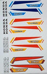 HONDA CB125S CB125  SIDE PANEL DECAL KIT