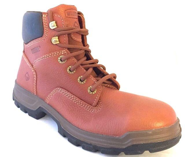 09a0e0ca382 Wolverine W08308 Men's Steel Toe Brown Tan Steel Toe Work Boots Size 9.5