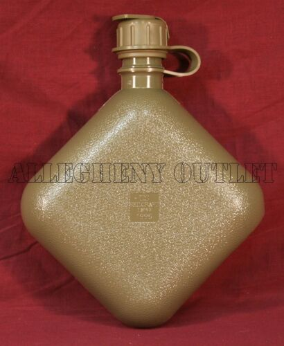 2 TWO US Military 2 Quart Collapsible Water Canteen Bladder 2qt w M1 NBC Cap NEW