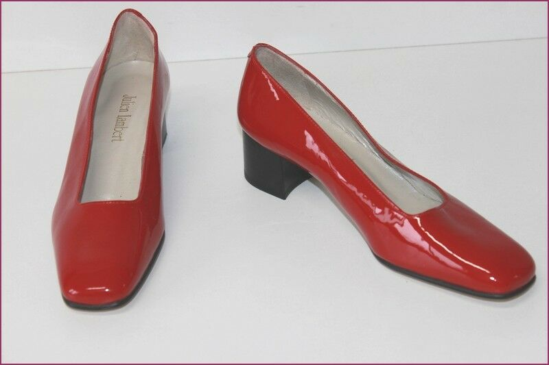 JULIEN LAMBERT Court shoes All Patent Leather Red T 37 MINT