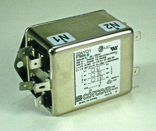 Corcom 20AYO1 compact Low current RFI Power Line Filter