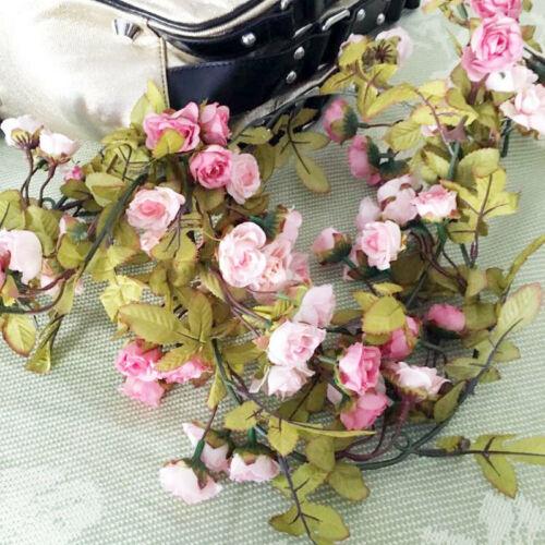 Rose Garland Vine Ivy DIY Faux Silk Artificial Flower Leaf 7 Ft   Party Decor