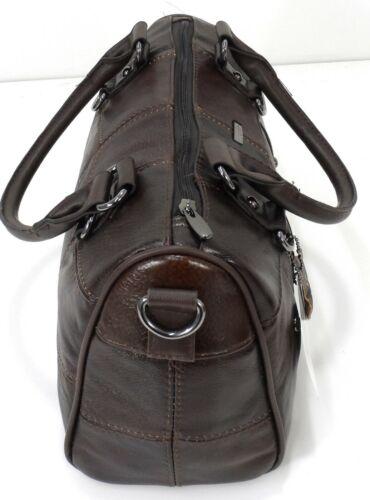 Ladies Women Lorenz Cowhide Real Leather Tote Barrel Shoulder Bag Handbag Purse