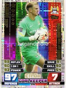 Match Attax 2014/15 Premier League - #379 Joe Hart - Man of the Match