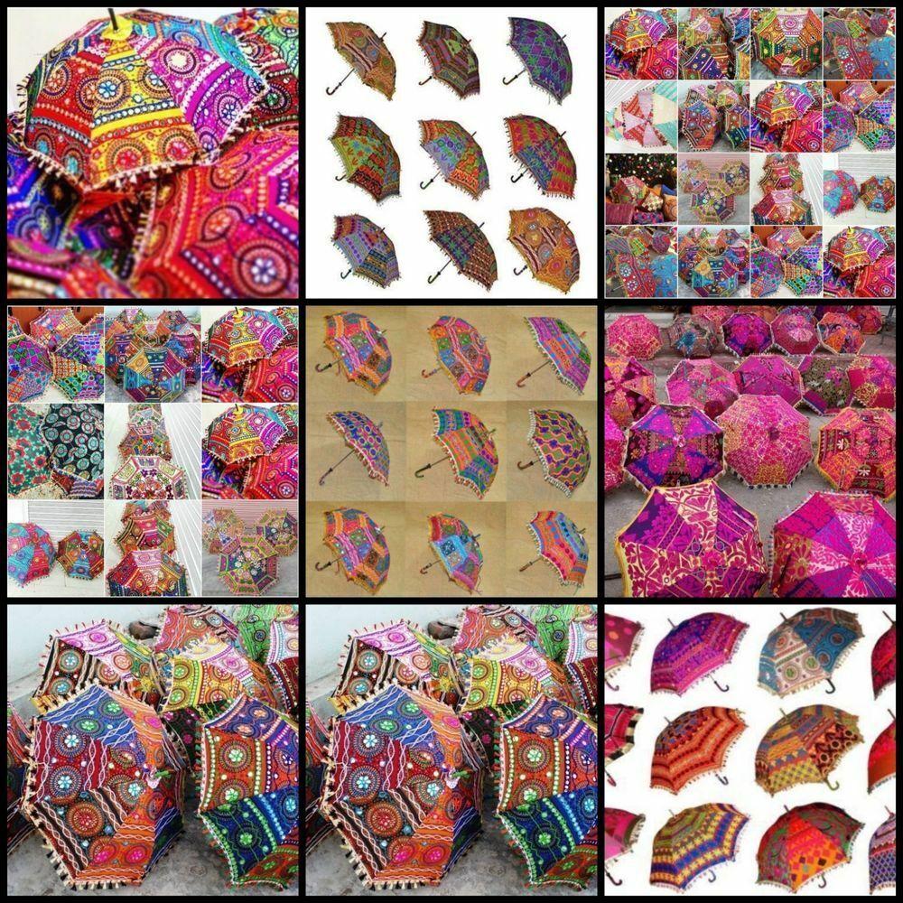 Handmade Rajasthani Wholesale Parasol-10 Pc Indian Home Decor Wedding Umbrellas