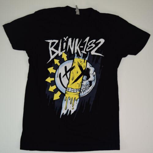 Blink 182 Shirt Decaying Smiley Women's Black T-Shirt Sz XS/S Ra