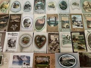 Big-Lot-of-60-Vintage-Postcards-with-Cottage-amp-Various-Scenes-Scenic-s726