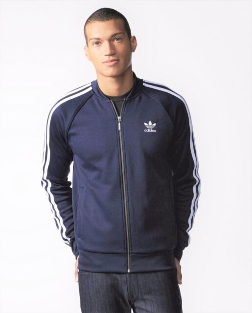 new product 0eac8 6f092 GENUINE ADIDAS ORIGINALS SUPERSTAR MENS TRACK JACKET TOP SLIM FIT SIZE S -  XL