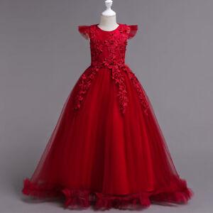 Flower-Girl-Dress-Princess-Wedding-Birthday-Holiday-Party-Bridesmaid-Prom-Dressy