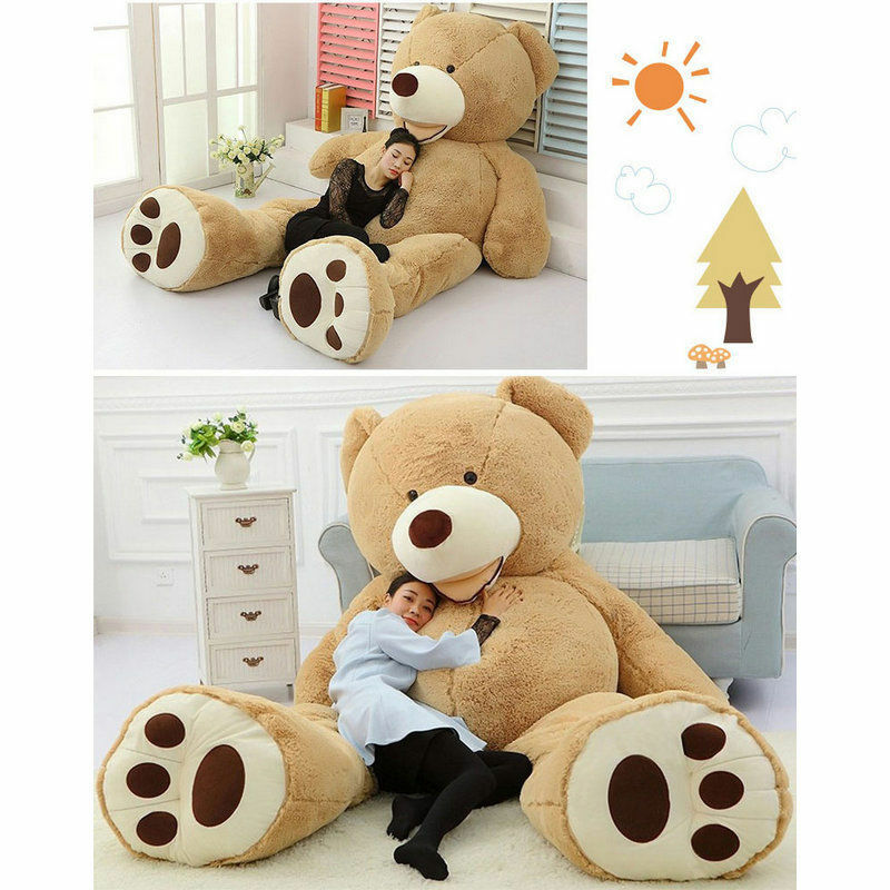 Giant big Marrone 78'' Teddy bear cover no cottom stuffed animal plush soft toys