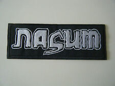 NASUM PATCH Embroidered Iron On Brutal Truth Napalm Death Metal Band Badge NEW